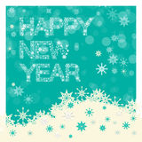 Happy New Year Title - Vector Snowflakes Slogan Stock Images