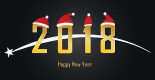 2018 Happy New Year, gold text illustration vector. Happy new year to all. This picture is illustration vector royalty free illustration