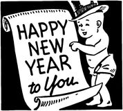 Happy New Year To You stock illustration