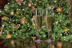 Happy new year 2016. Toast champagne for cristmas party Stock Image