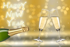 Happy new year toast. And light Stock Images