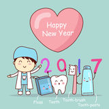Happy new year with tooth Royalty Free Stock Image