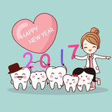 Happy new year with tooth Royalty Free Stock Photo