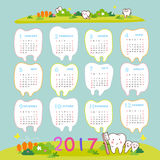 Happy new year with tooth Royalty Free Stock Photography
