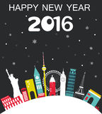 Happy New Year Travel  Background Stock Photo