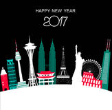 Happy New Year Travel Background.  Royalty Free Stock Images