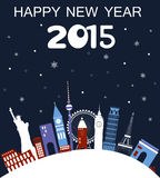 Happy New Year Travel card. Royalty Free Stock Photos