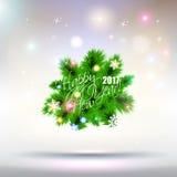 2017 Happy New Year Tree greeting card. 2017 Happy New Year Tree greeting card or background Stock Photography