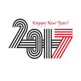 2017 Happy New Year trendy and minimalistic card or background. Stock Photography