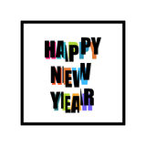 2017 Happy New Year trendy and minimalistic card or background. Stock Photos