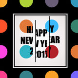 2017 Happy New Year trendy and minimalistic card or background. Stock Images