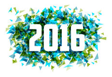 Happy New year 2016 triangle abstract background Royalty Free Stock Image