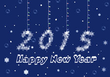 A Happy New Year 2015. At the turn of the year 2015 comes with many hopes Stock Image
