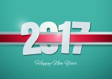 Happy New Year 2017 on Turquoise Background. Vector Illustration Stock Images