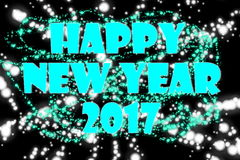 Happy New Year Turquoise 2017. A beautiful 2017 background for your New Year Celebrations Royalty Free Stock Photography