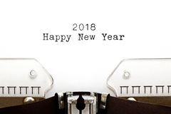Happy New Year 2018 On Typewriter. Royalty Free Stock Image