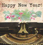 Happy new year typewriter Stock Photography