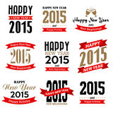 Happy new year typographic  design Royalty Free Stock Photo