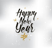 Happy New Year typographic design. Happy New Year 2017 text design. logo, typography. Usable as banner, greeting card, gift package etc Royalty Free Stock Photography