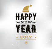 Happy New Year typographic design. Happy New Year 2017 text design. logo, typography. Usable as banner, greeting card, gift package etc Royalty Free Stock Photos