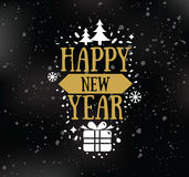 Happy New Year typographic design. Happy New Year 2017 text design. Vector logo, typography. Usable as banner, greeting card, gift package etc Stock Photo