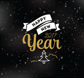 Happy New Year typographic design. Happy New Year 2017 text design. Vector logo, typography. Usable as banner, greeting card, gift package etc Stock Photography