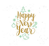 Happy New Year typographic design. Happy New Year 2017 text design. Vector logo, typography. Usable as banner, greeting card, gift package etc Royalty Free Stock Photo