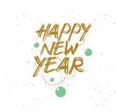 Happy New Year typographic design. Happy New Year 2017 text design. Vector logo, typography. Usable as banner, greeting card, gift package etc Royalty Free Stock Images