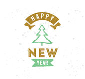 Happy New Year typographic design. Happy New Year 2017 text design. Vector logo, typography. Usable as banner, greeting card, gift package etc stock illustration