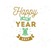 Happy New Year typographic design. Happy New Year 2017 text design. Vector logo, typography. Usable as banner, greeting card, gift package etc Stock Photos
