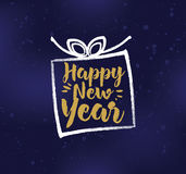 Happy New Year typographic design. Happy New Year 2017 text design. Vector logo, typography. Usable as banner, greeting card, gift package etc Royalty Free Stock Image