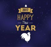 Happy New Year typographic design. Happy New Year 2017 text design. Vector logo, typography. Usable as banner, greeting card, gift package etc Royalty Free Stock Photography