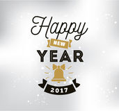 Happy New Year typographic design. Happy New Year 2017 text design. Vector logo, typograpy. Usable as banner, greeting card, gift package etc Royalty Free Stock Image