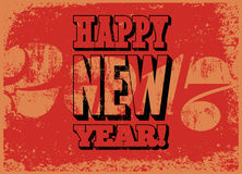 Happy New Year! Typographic grunge vintage Christmas card design. Retro vector illustration. Happy New Year! Typographic grunge vintage Christmas card design vector illustration