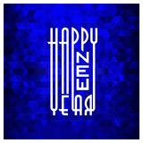 Happy New Year Typography with abstract background design vector. This Vector EPS 10 illustration is best for print media, web design, application design user Stock Images