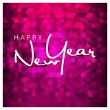 Happy New Year Typography with abstract background design vector. This Vector EPS 10 illustration is best for print media, web design, application design user Royalty Free Stock Image