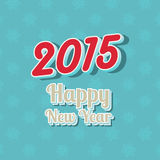 Happy New Year typography background. With 3D text Royalty Free Stock Image