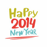 Happy new year 2014. Typography design Stock Photo