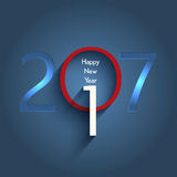 Happy New Year typography design. Typography design for the Happy New Year Royalty Free Stock Images