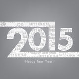 Happy new year 2015. Typography design with space for your own text Royalty Free Stock Image