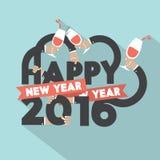Happy New Year 2016 Typography Design. Happy New Year 2016 Typography Design Vector Illustration Stock Images