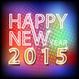 Happy new year 2015 typography designs in bokeh  background Royalty Free Stock Images