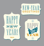 Happy New Year typography elements Stock Photos