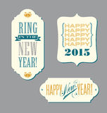 Happy New Year typography elements Royalty Free Stock Images