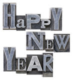 Happy New Year typography Royalty Free Stock Photo