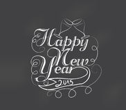 Happy new year typography retro Royalty Free Stock Photo