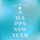 Happy New Year typography Stock Photography