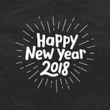 Happy New Year 2018 typography Stock Image