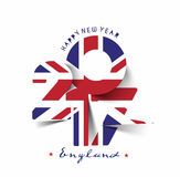 Happy new year 2017 with U.K Flag Pattern Royalty Free Stock Photos