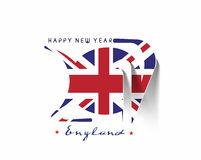Happy new year 2017 with U.K Flag Pattern. Text Vector Design Background Royalty Free Stock Photos